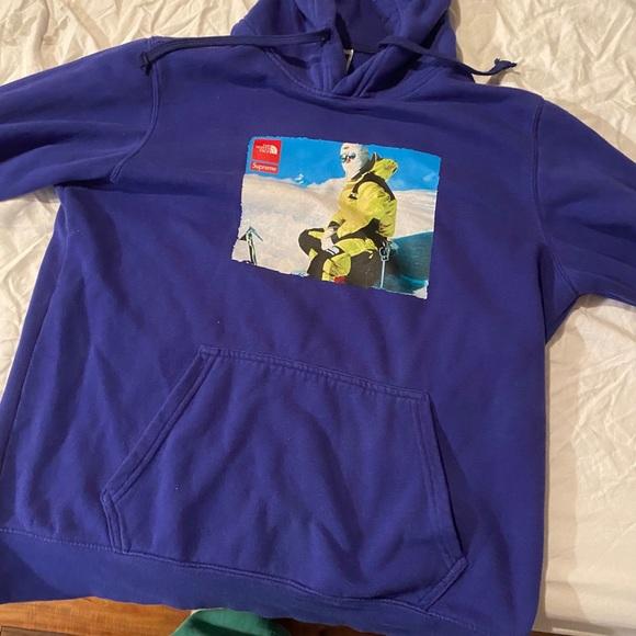 Supreme x North Face Royal hoodie